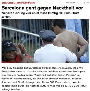 Barcelona kassiert bei Nackten...